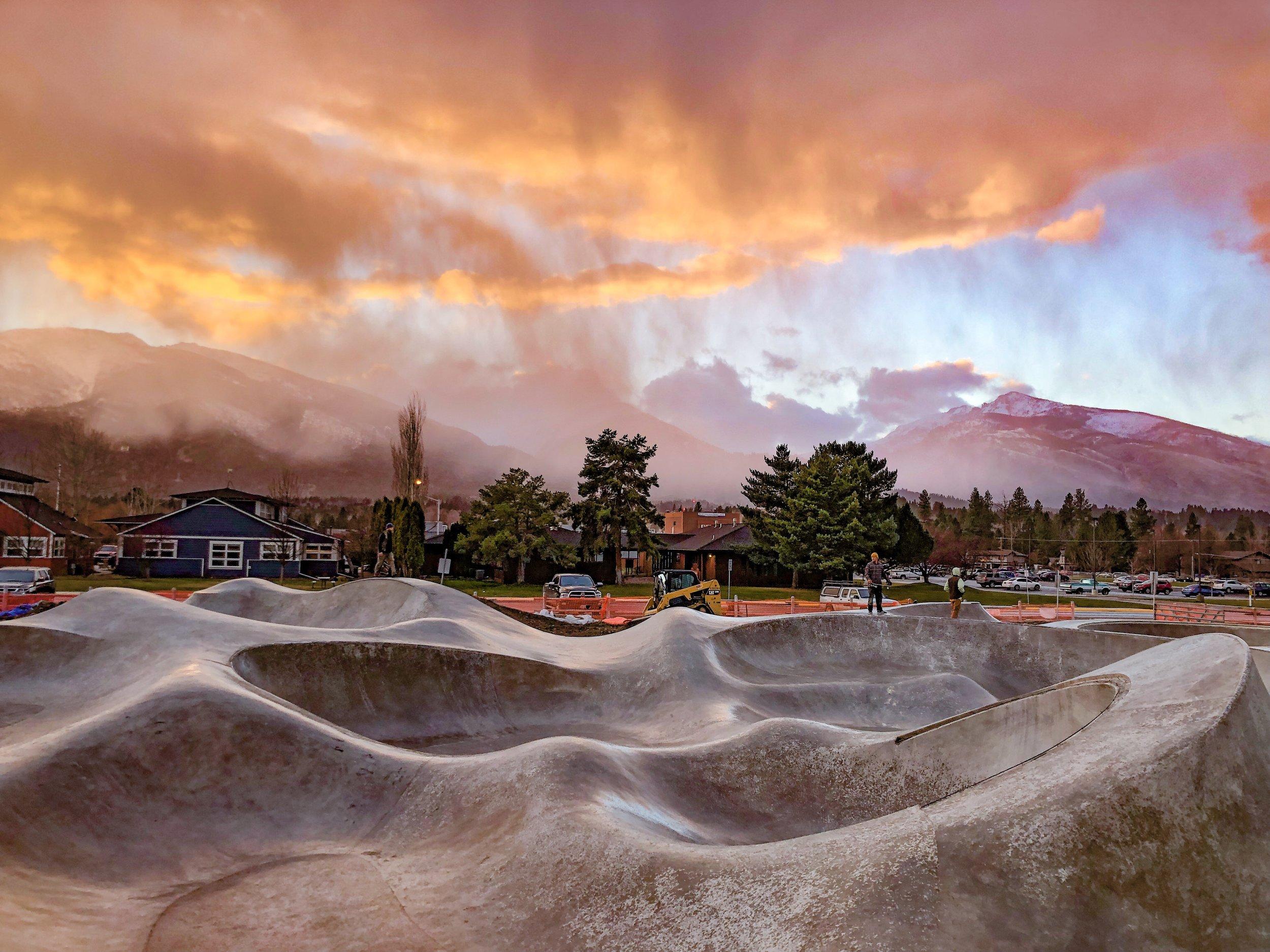Big sky skateboarding ⛰