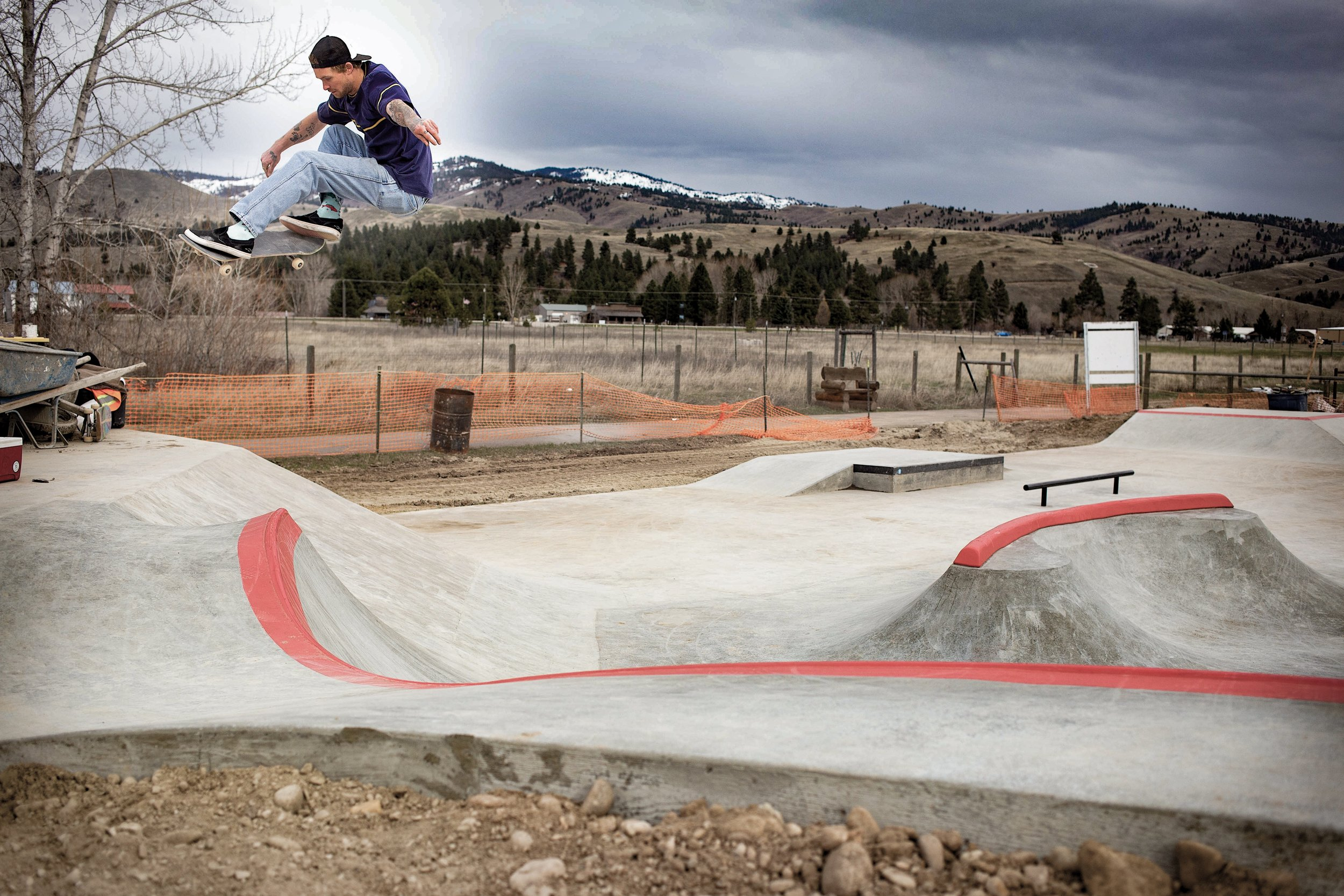 New crew member @judastweest tests out the new section we built this spring in Darby, Montana.