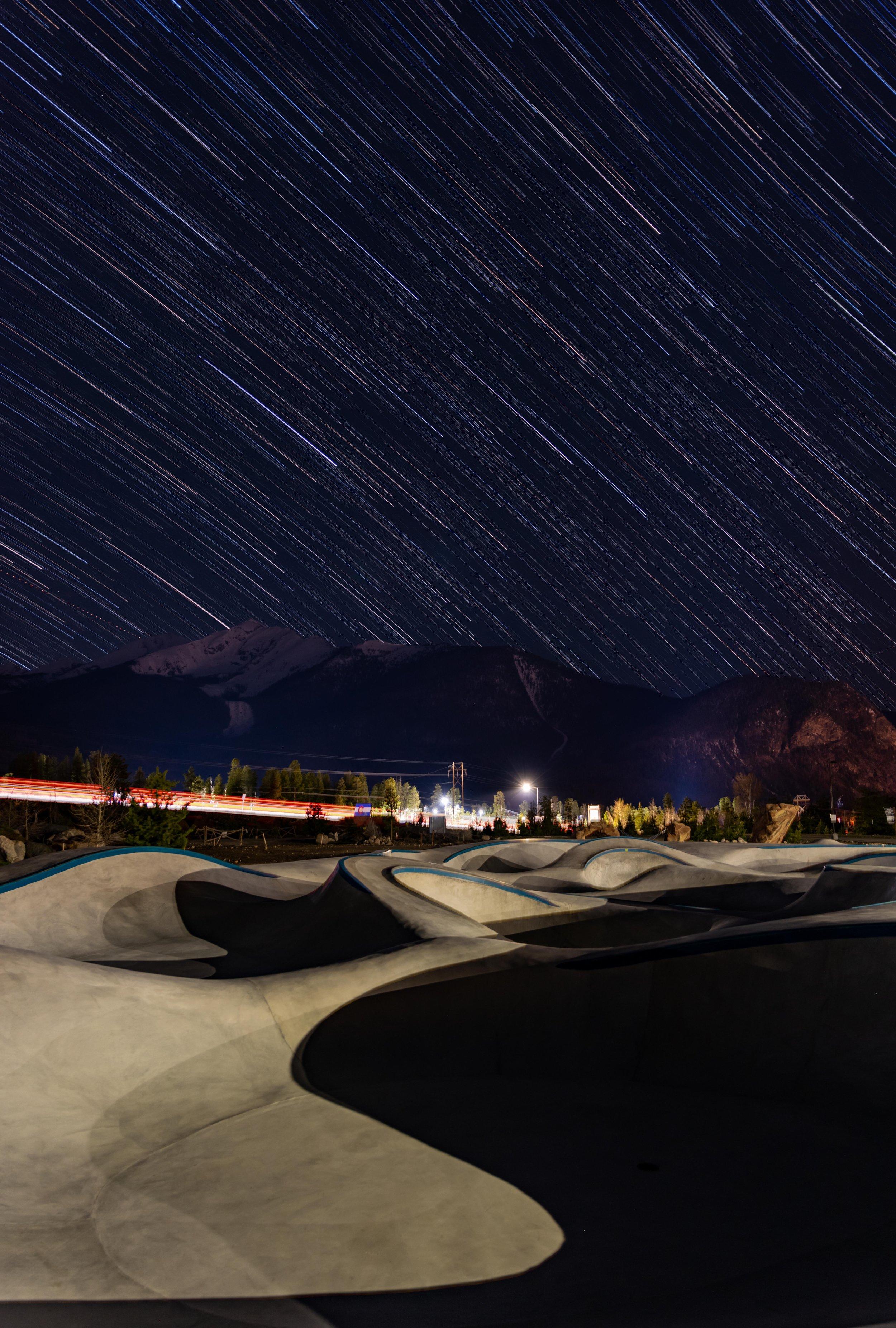 Moon lit moonscape 🌒 Frisco, Colorado 💯