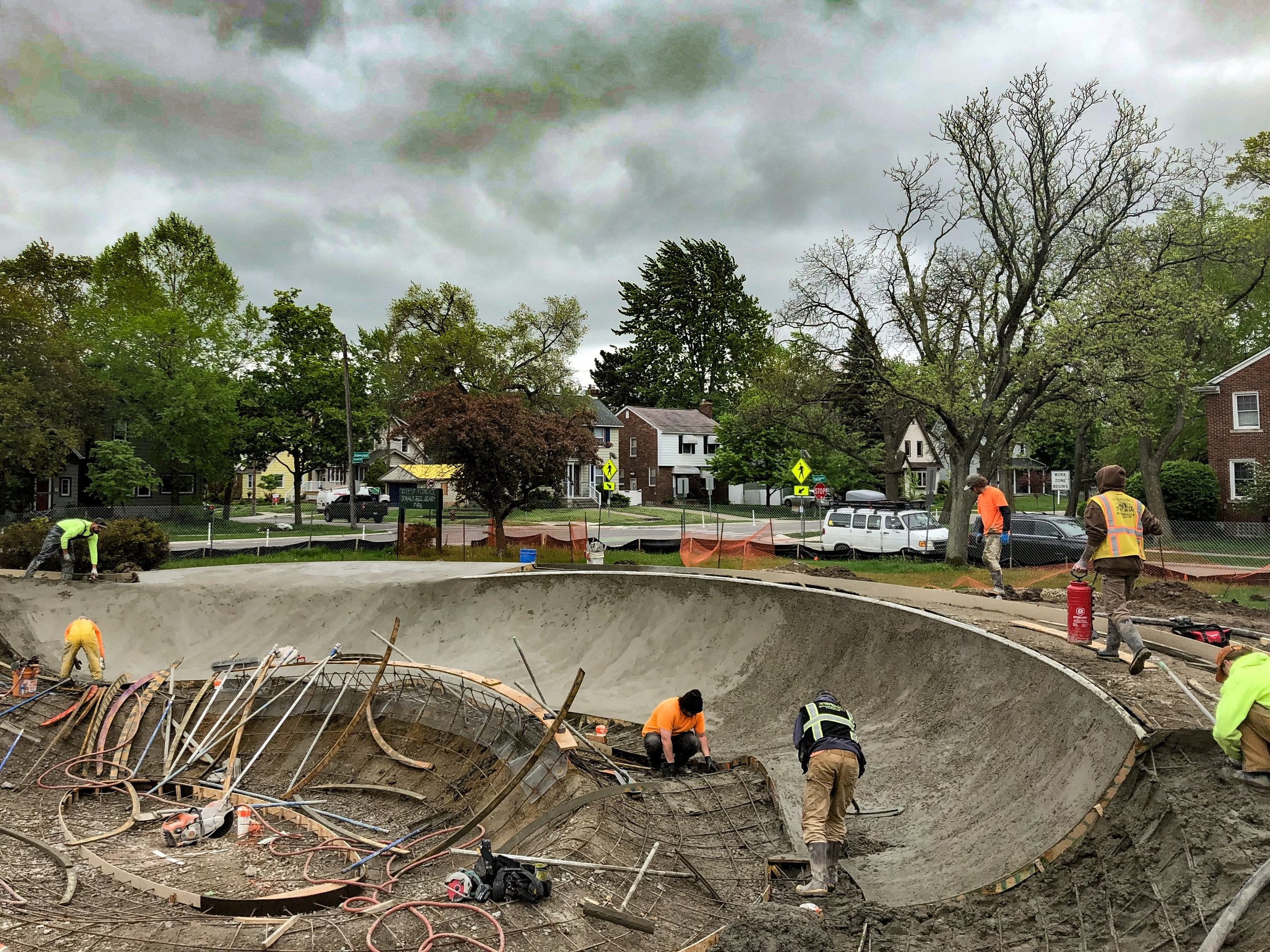 Shotcrete action 💨 in Ferndale, Michigan 💯