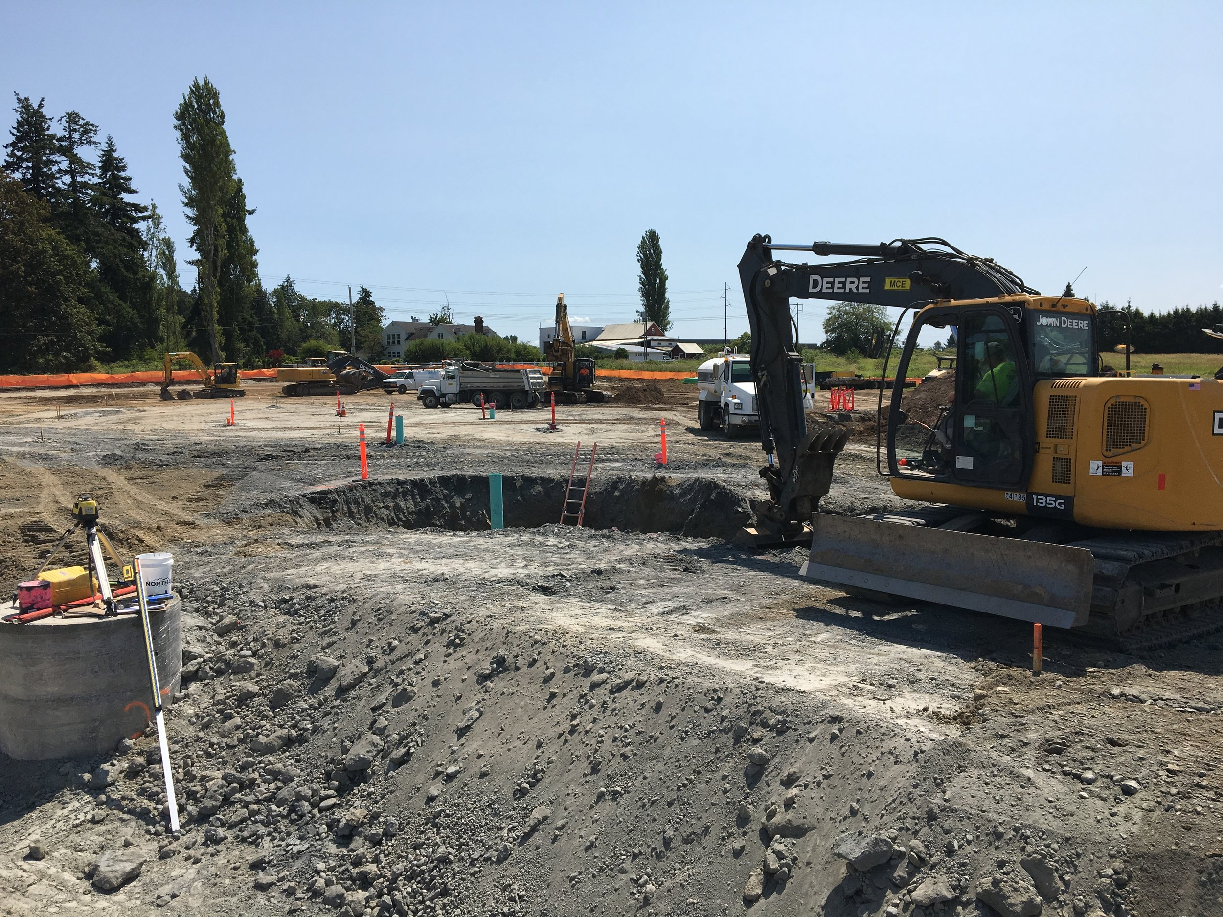 It's always exciting breaking ground on a new park 🚜 We just got started on the new Lake Stevens, Washington skatepark 💪🏽