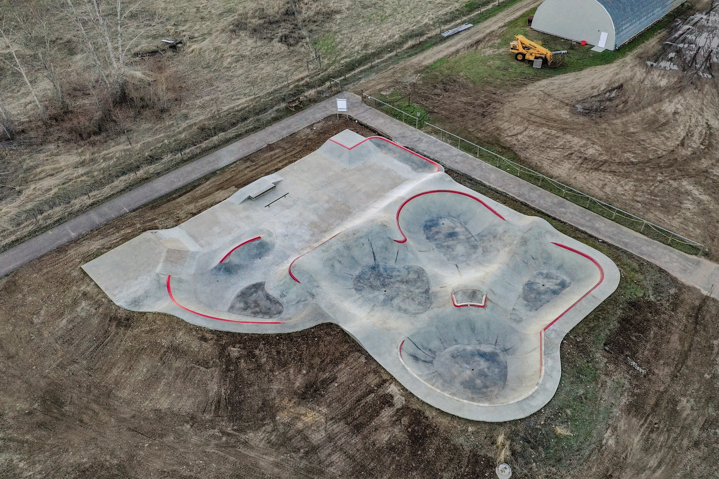 The existing concrete slab at the Darby, Montana skatepark got an upgrade this spring. Another #skateparkrecycling ♻️ project. Courtesy of @mtskateparkassociation 💯