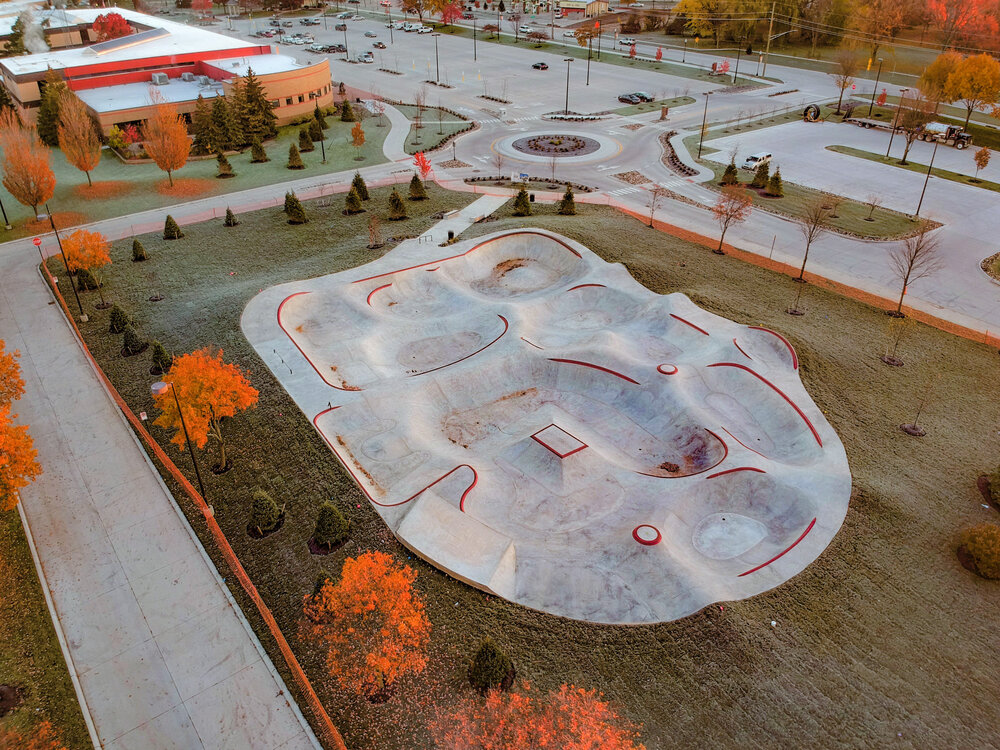 Sterling Heights Skatepark Michigan How to get a skatepark built building a skatepark