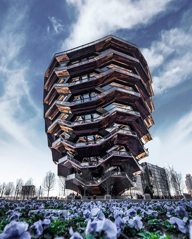 The new and controversial NYC landmark #TheVessel can be found in Hudson Yards. We're loving seeing all the cool ways creators are capturing this beast! What are your thoughts on it? Is it over hyped or worth the wait? #BeBold #Boldstreak ⠀