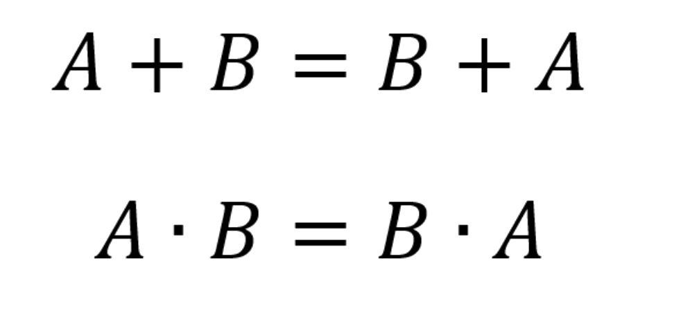 Commutative laws