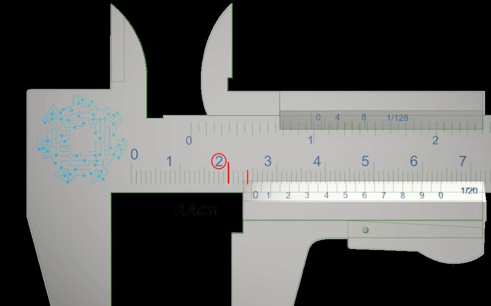 vernier milímetros medida.