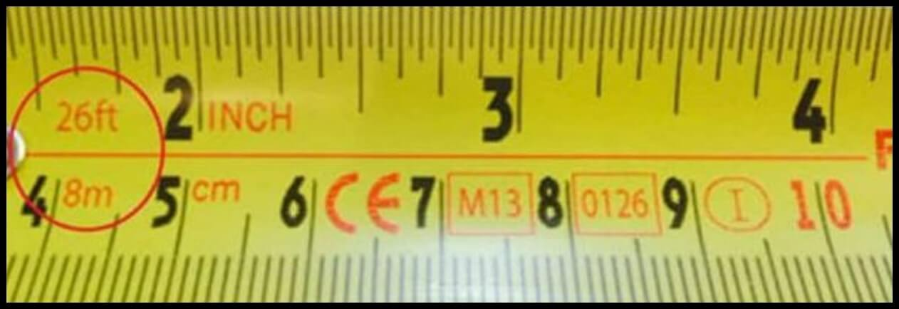 first numbers our tape measure