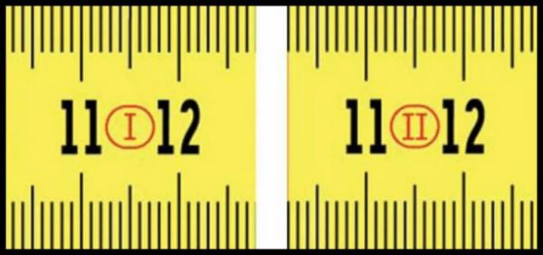 Números romanos en flexómetro