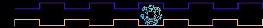 Diagrama de tiempo de la compuerta lógica NOT