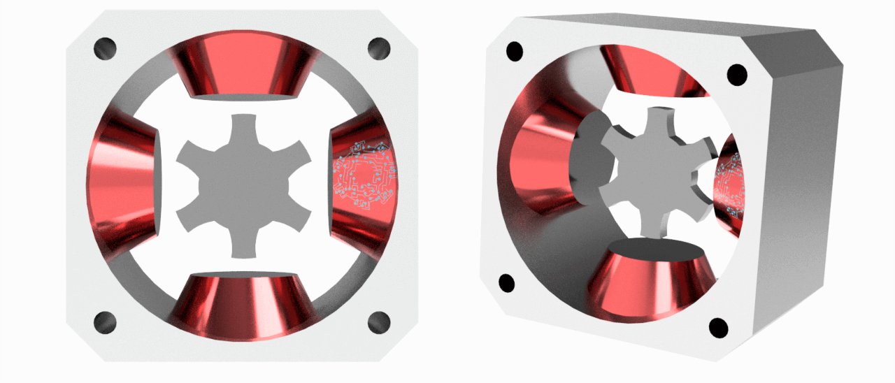 Motor paso a paso de reluctancia variable.