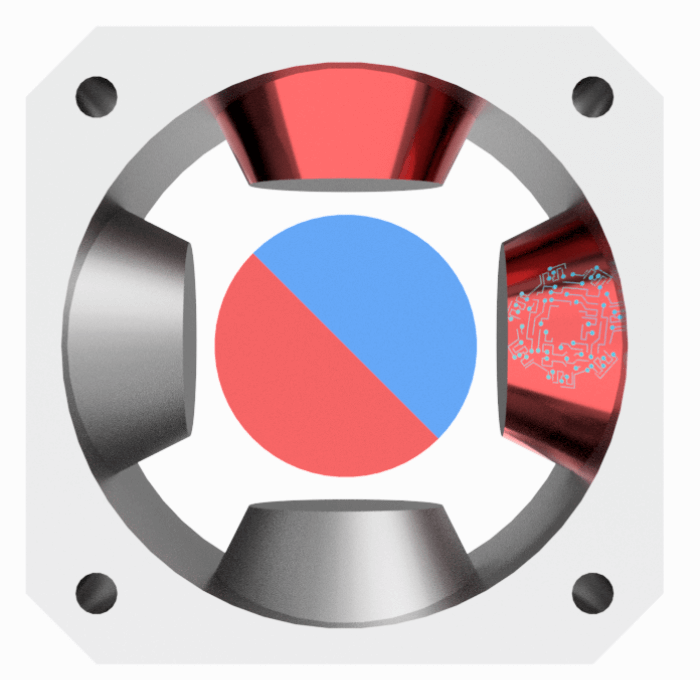 Motor paso a paso - 2 bobinas activas.