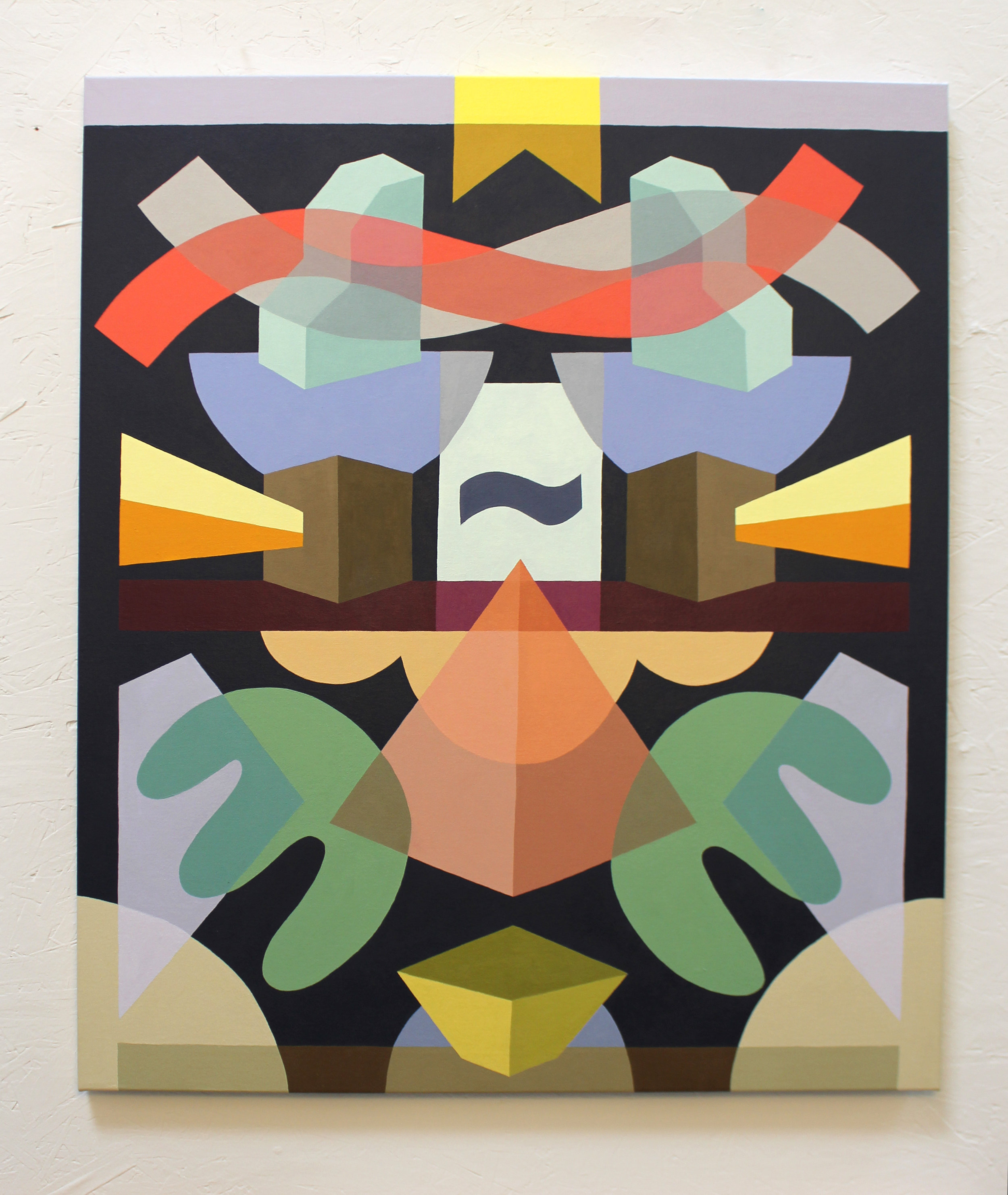 Opposite Symmetry #1  Acrylic on canvas. 2018
