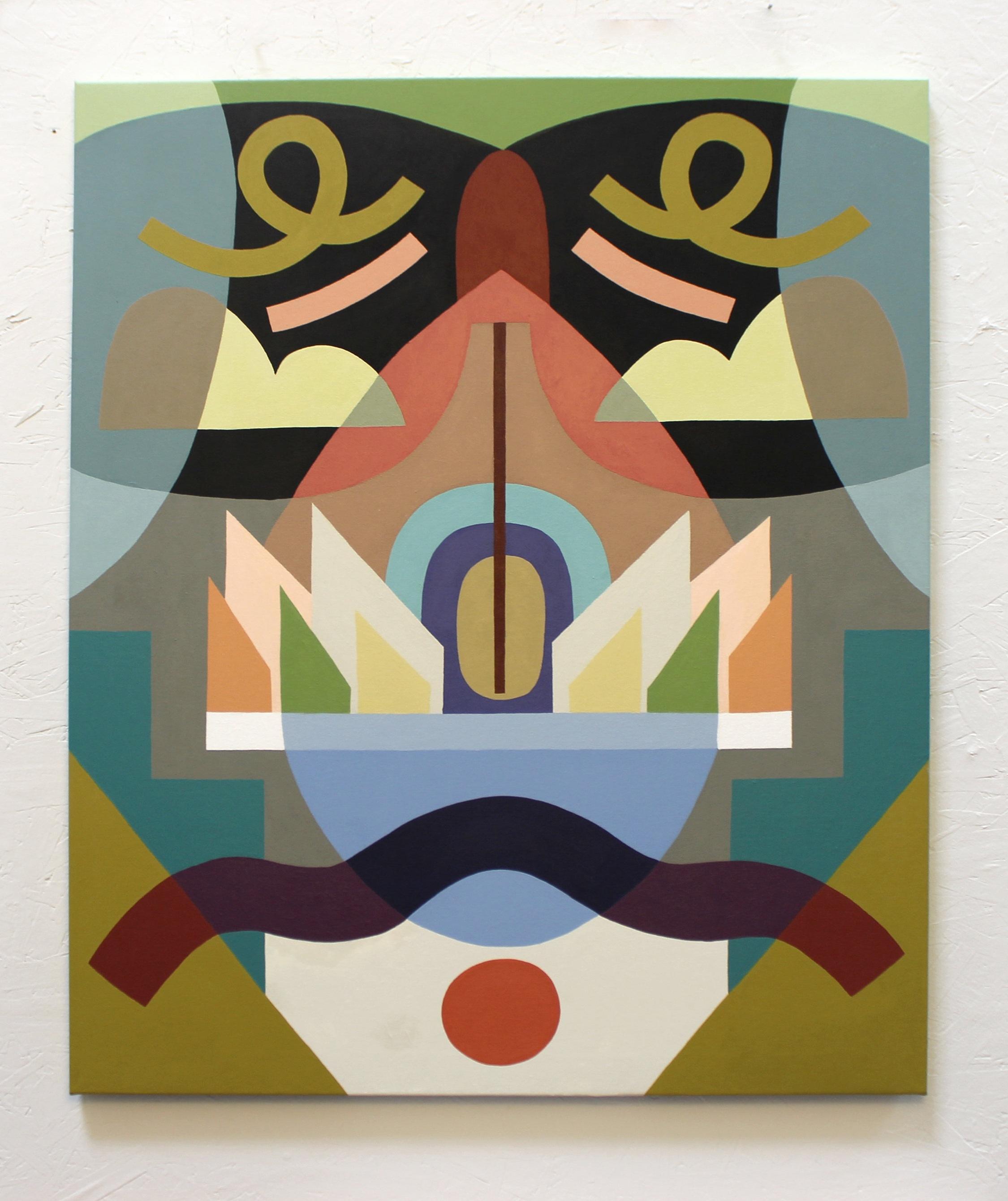 Opposite Symmetry #2  Acrylic on canvas. 2018