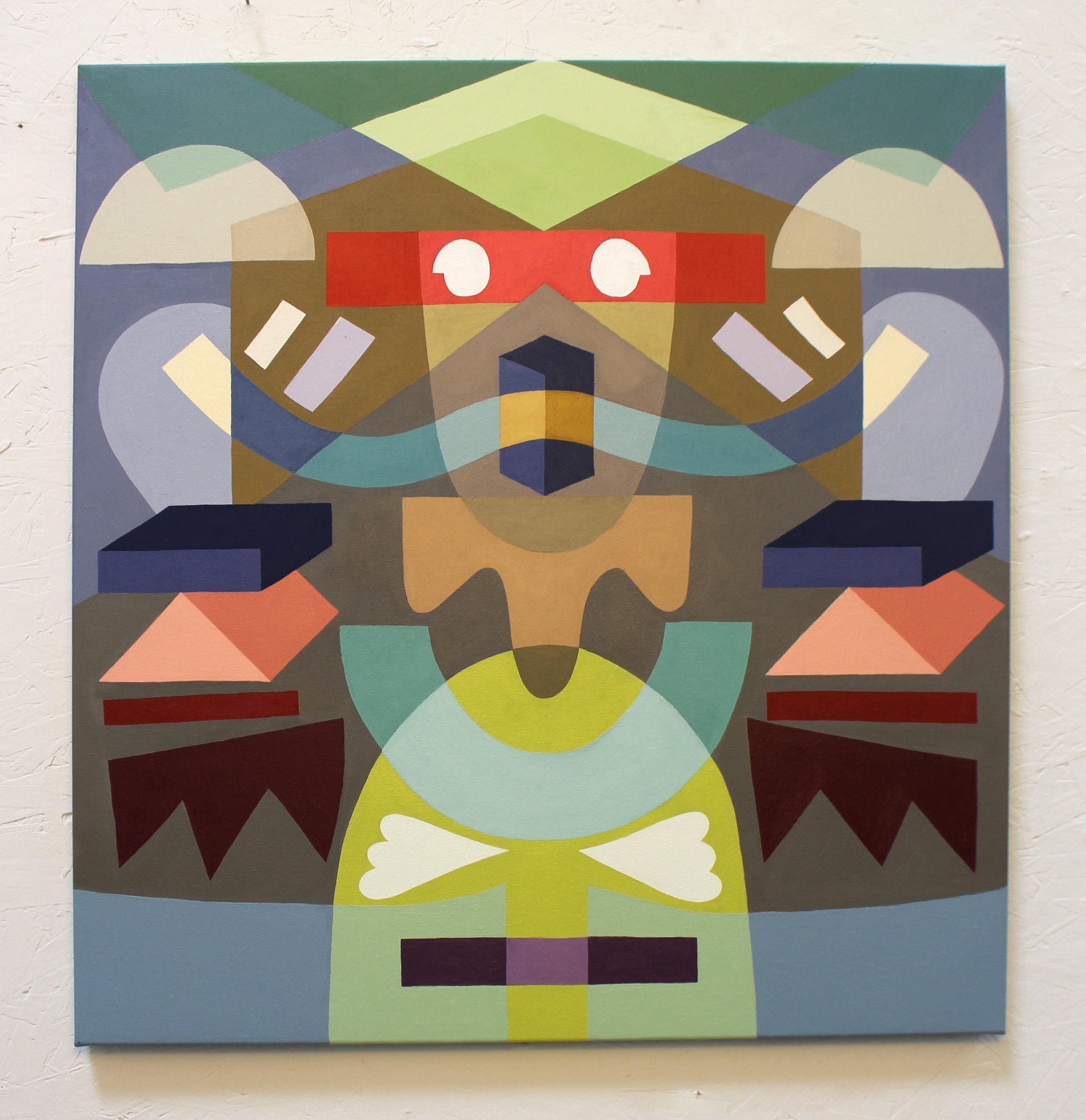 Opposite Symmetry #3  Acrylic on canvas. 2018