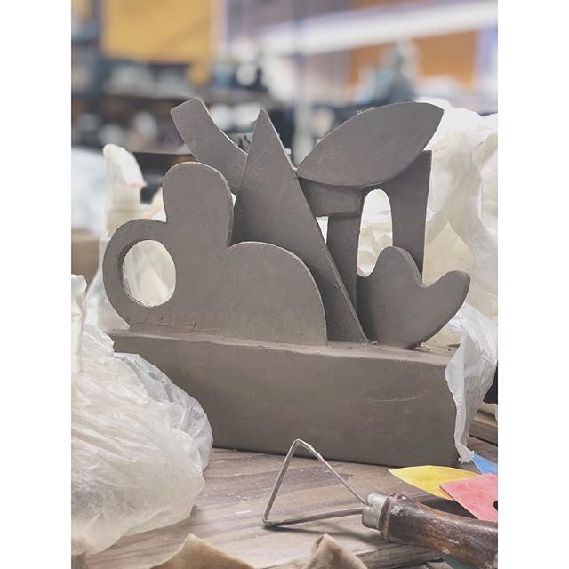 New ceramic sculptures coming soon. #cutouts #composition #ceramics #clay #patriciarubioart  #sculpture #3d