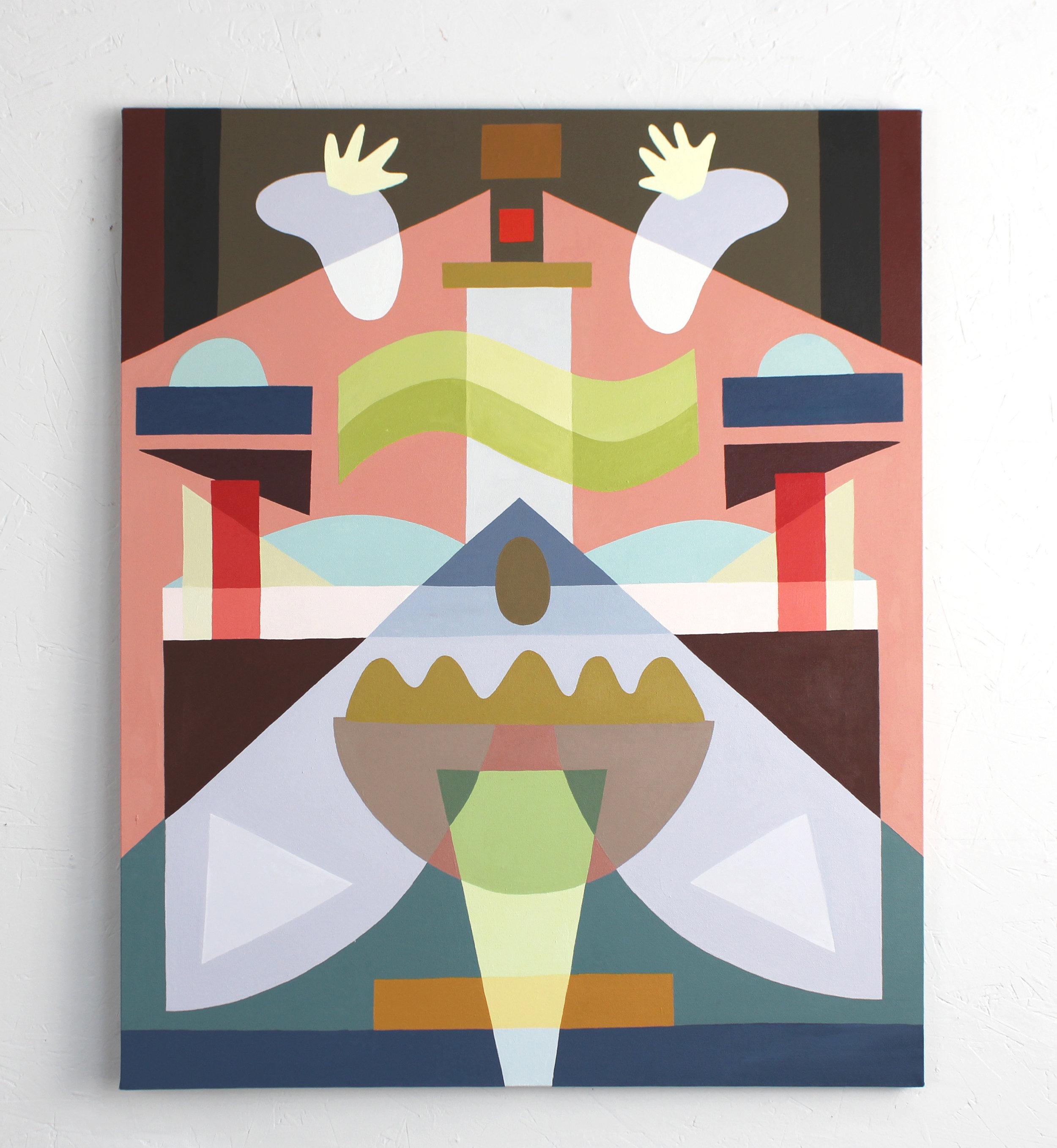 Opposite Symmetry #3  Acrylic on canvas. 2019