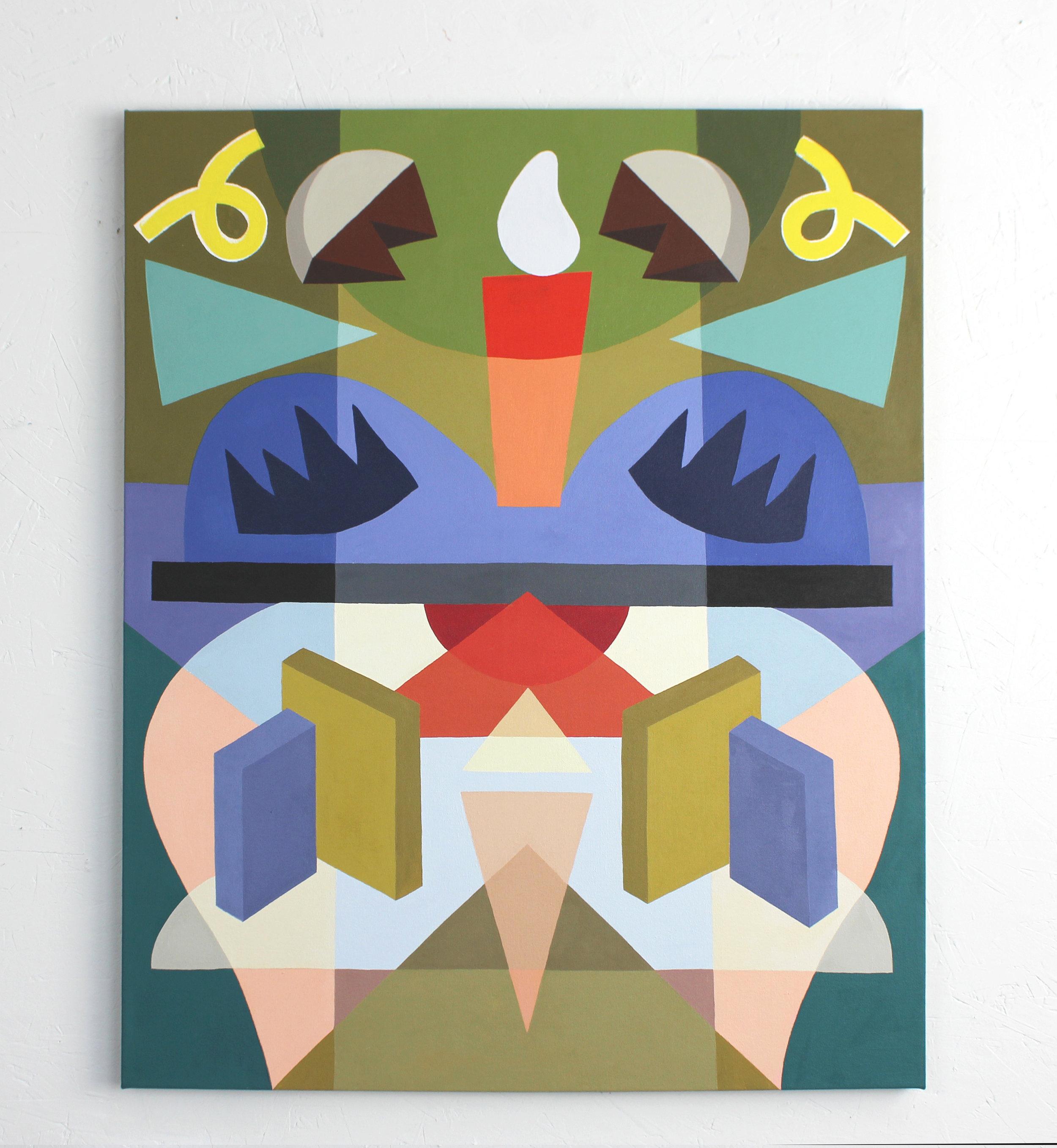 Opposite Symmetry #4  Acrylic on canvas. 2019