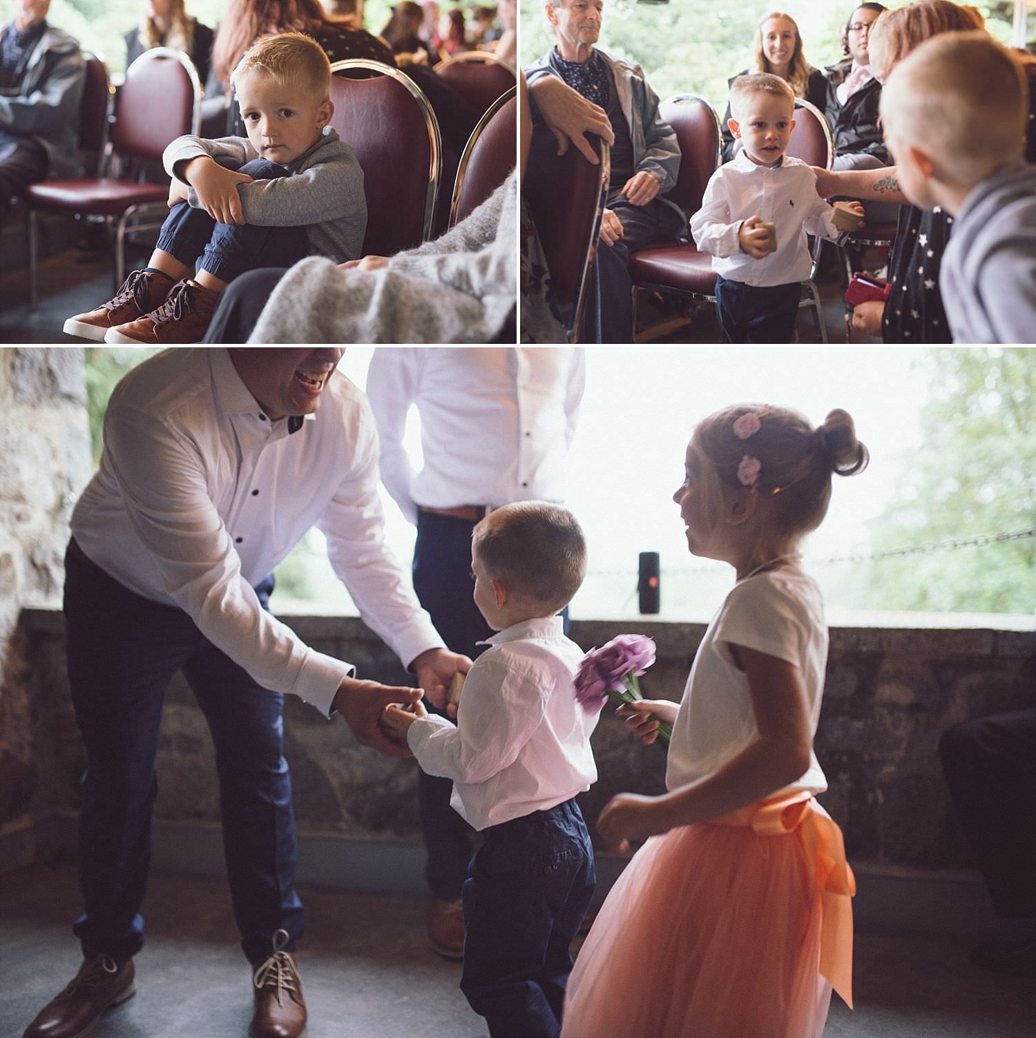 Lexi and Matt's kids walk down the aisle