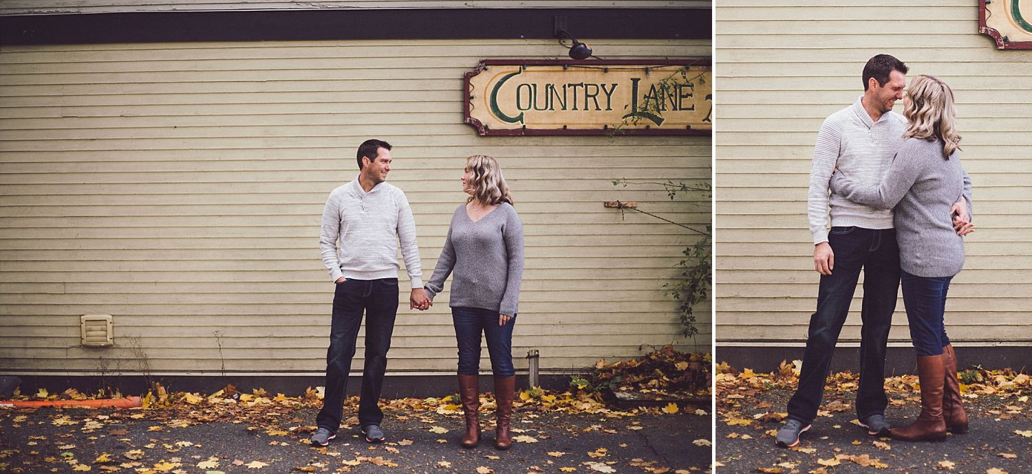 David and Erica standing in Country Lane