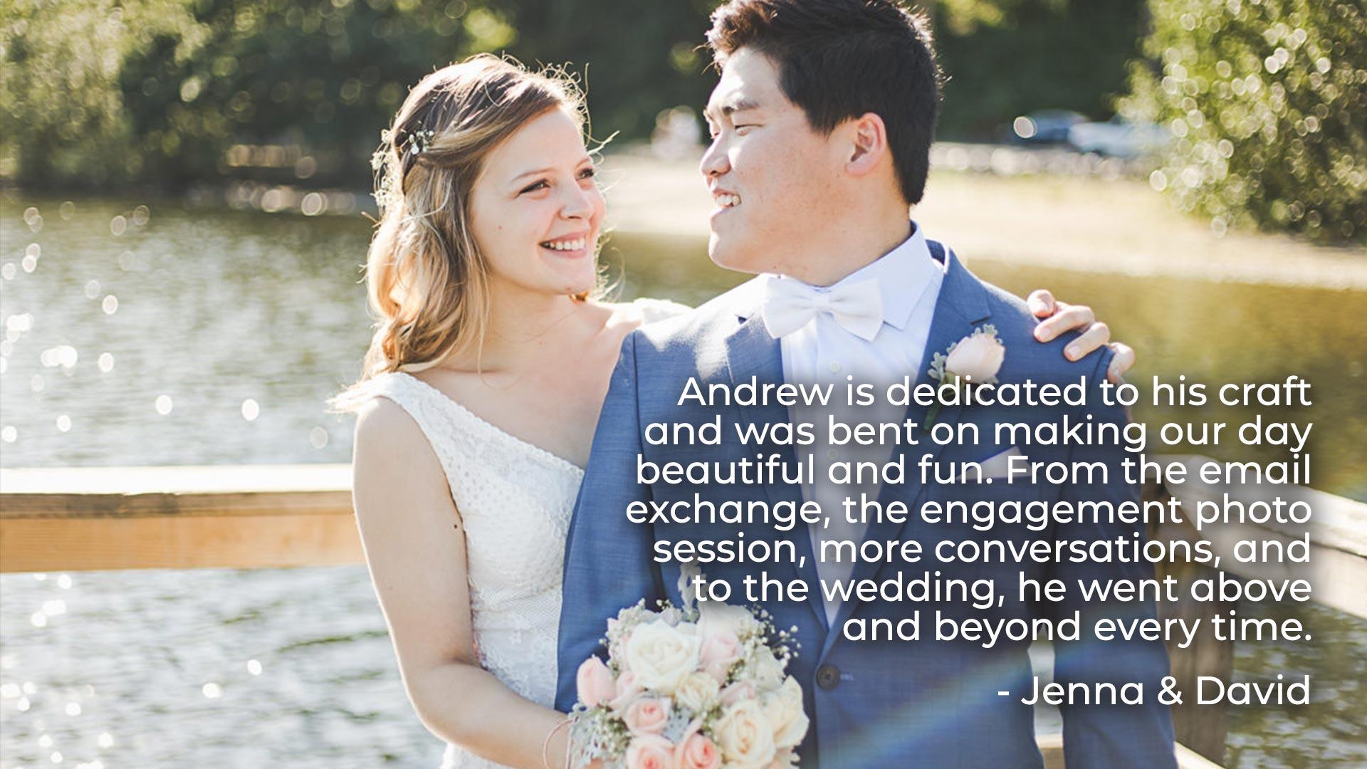 Testimonial from Jenna and David