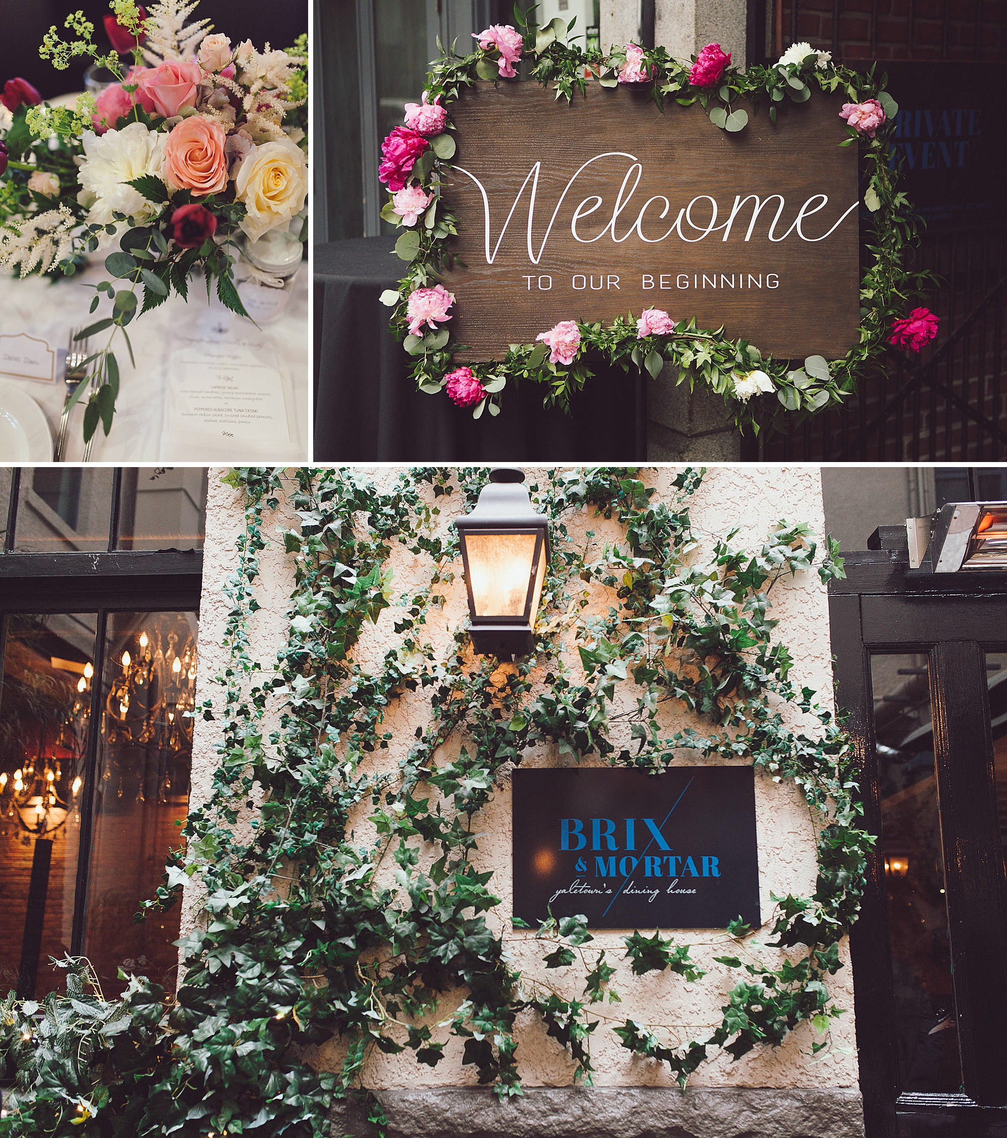 Decor and outside of the Brix and Mortar Restaurant in Vancouver