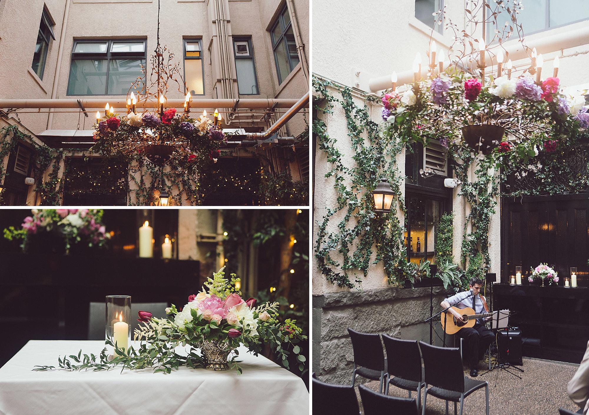 Wedding greenery decor