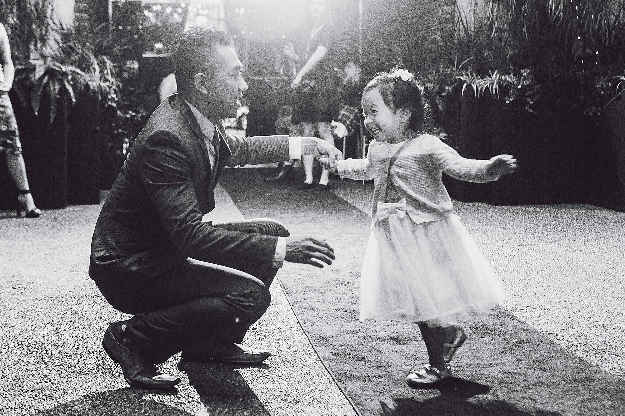 Father dancing with his daughter at a wedding