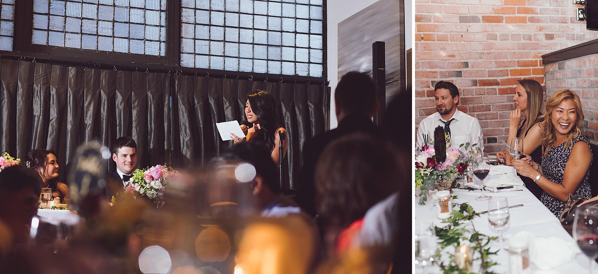 Maid of honour shares speech with newly married couple