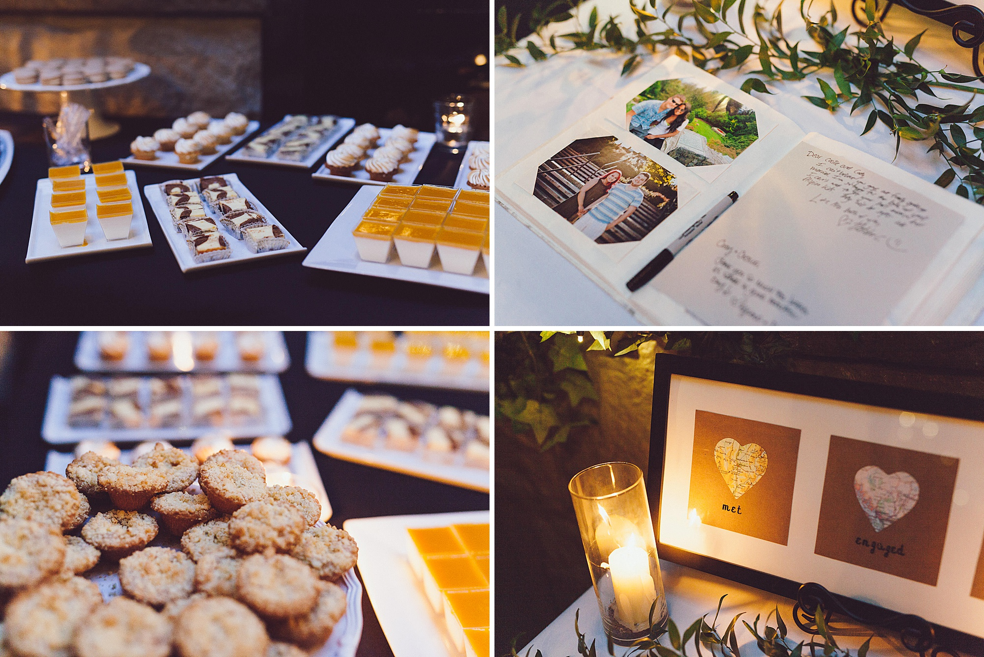 Dessert and details at the reception