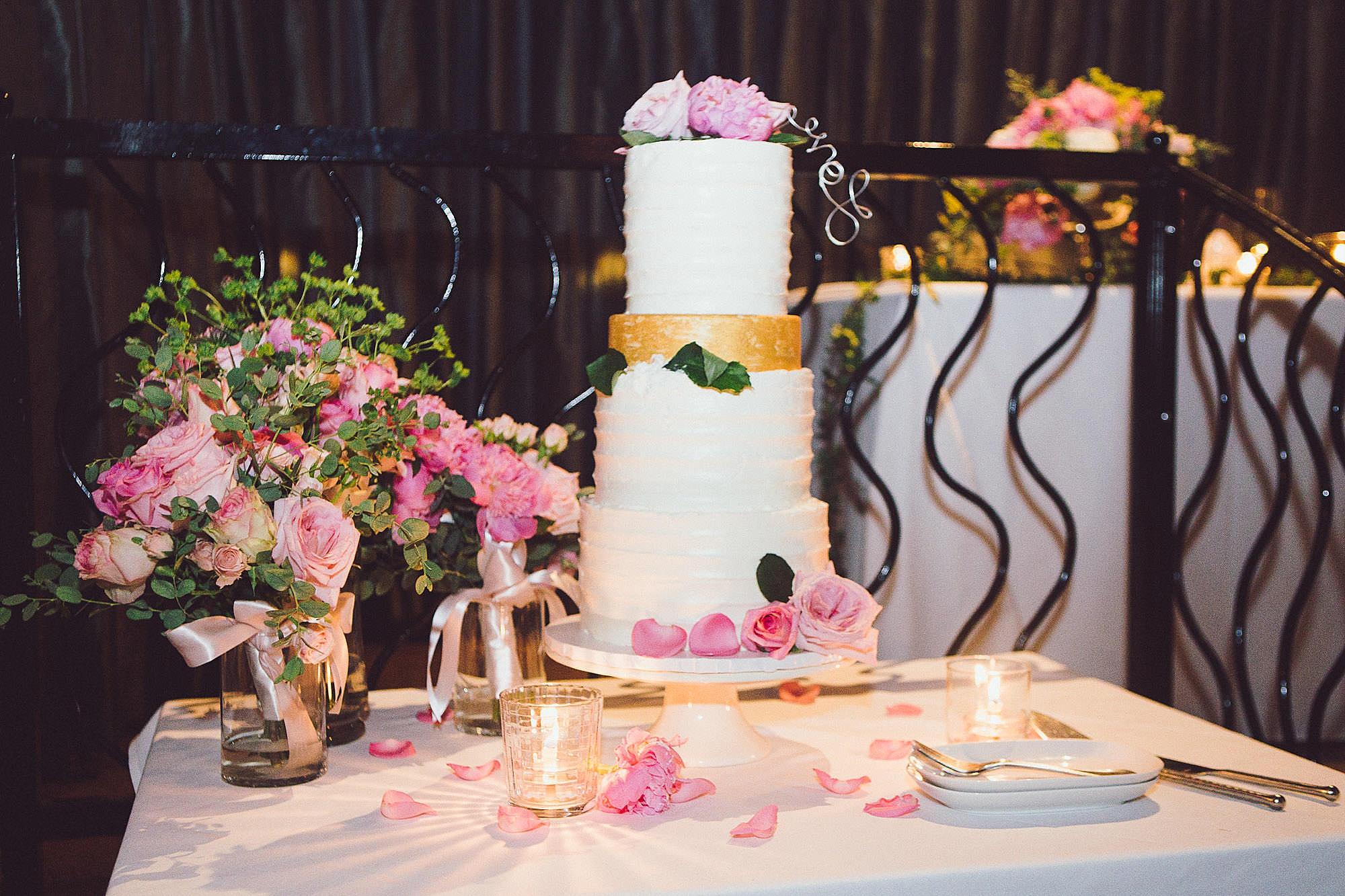 Their beautiful wedding cake!