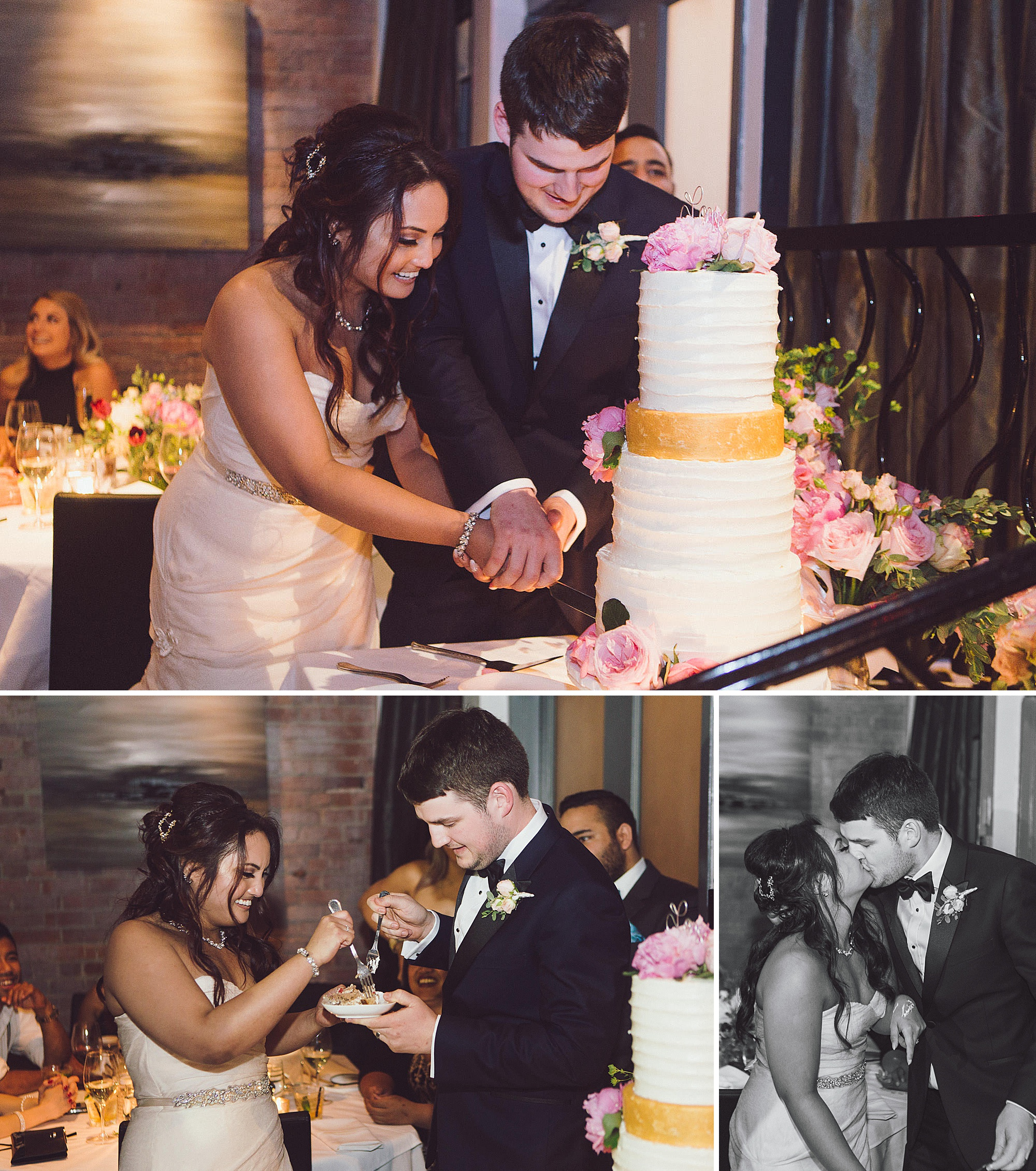 Cecille and Cody cut their cake