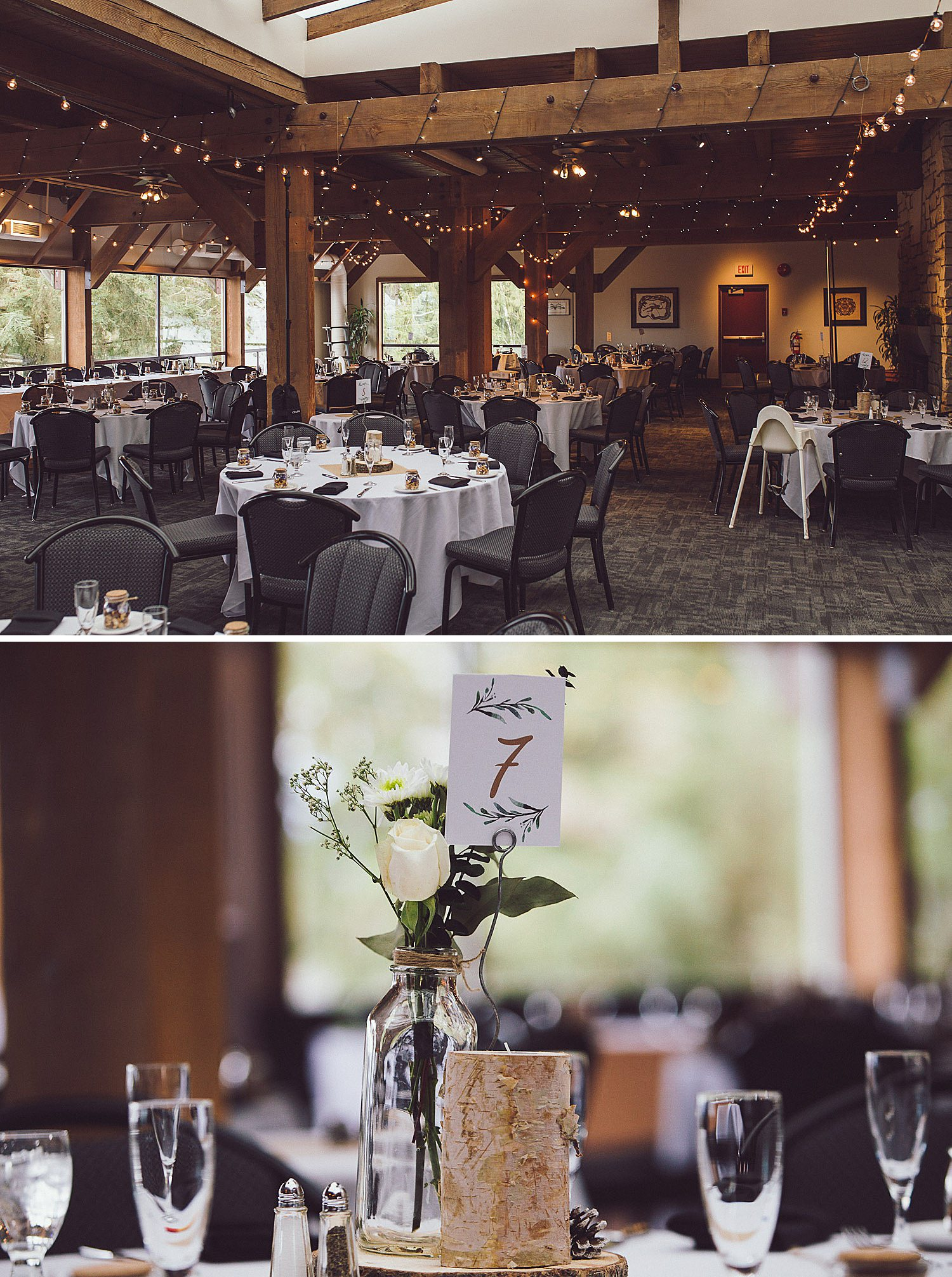Rustic Wedding Reception at the Diamond Alumni Centre in Burnaby
