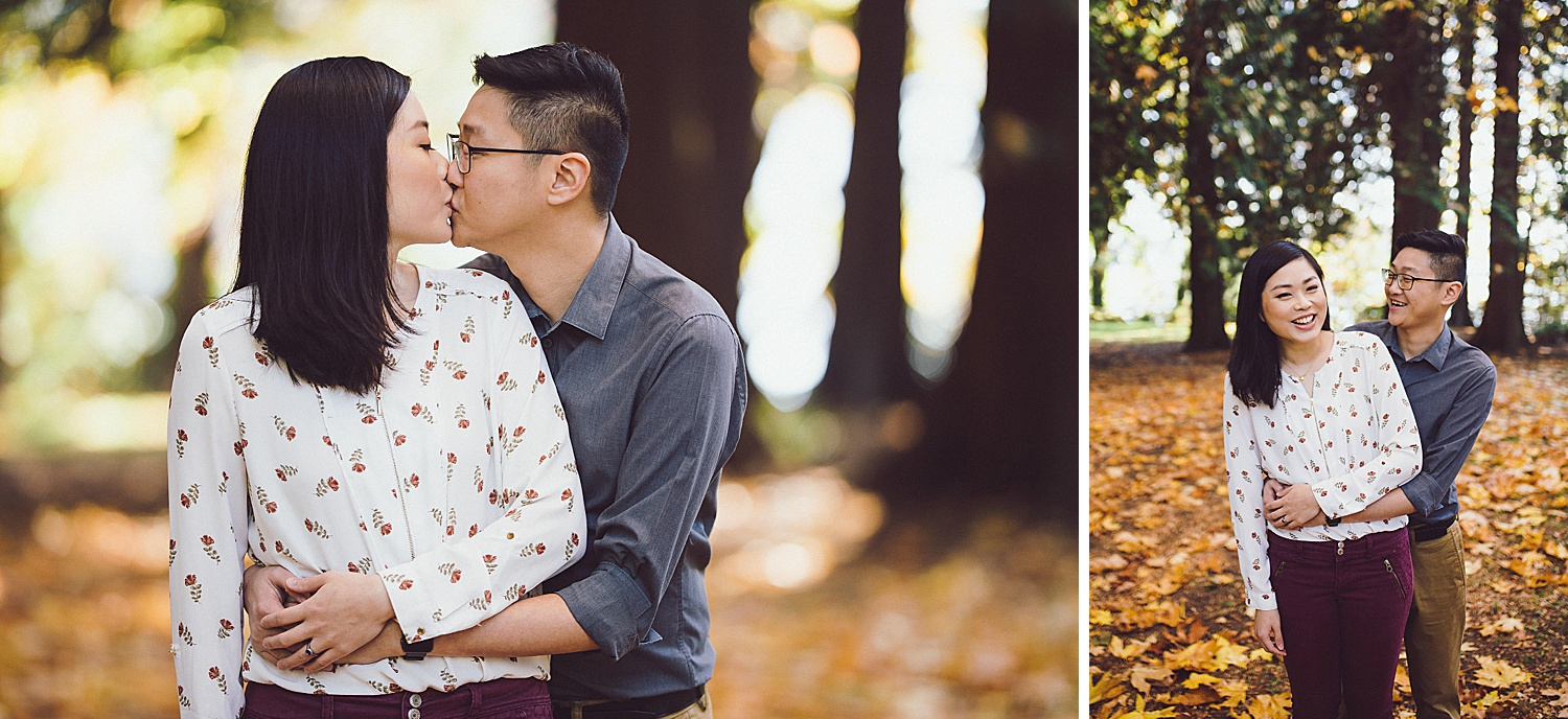 Kisses in the fall leaves
