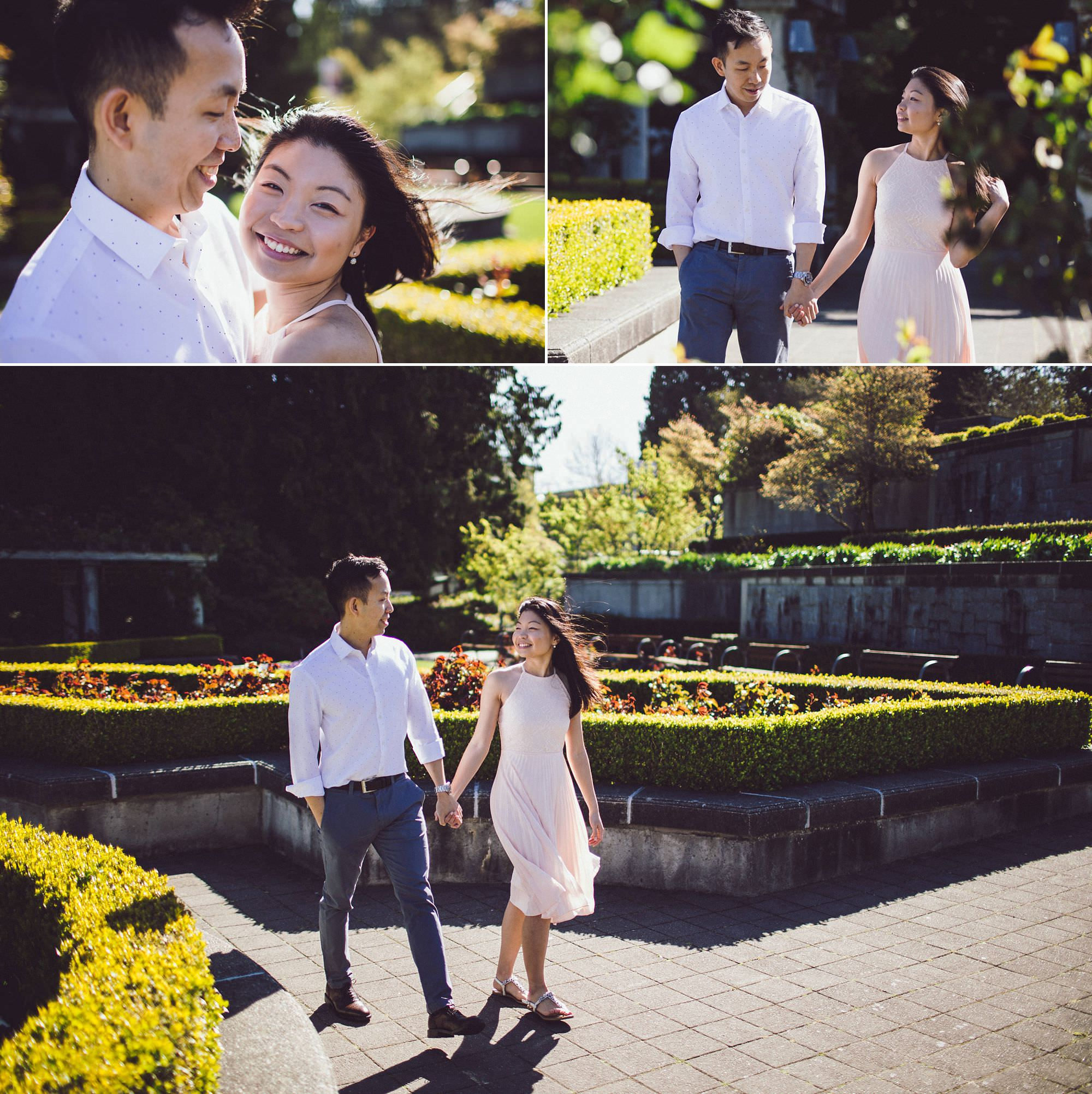 Elizabeth and Chris were rockstars, braving the chilly winds for some beautiful portraits in the Rose Garden!
