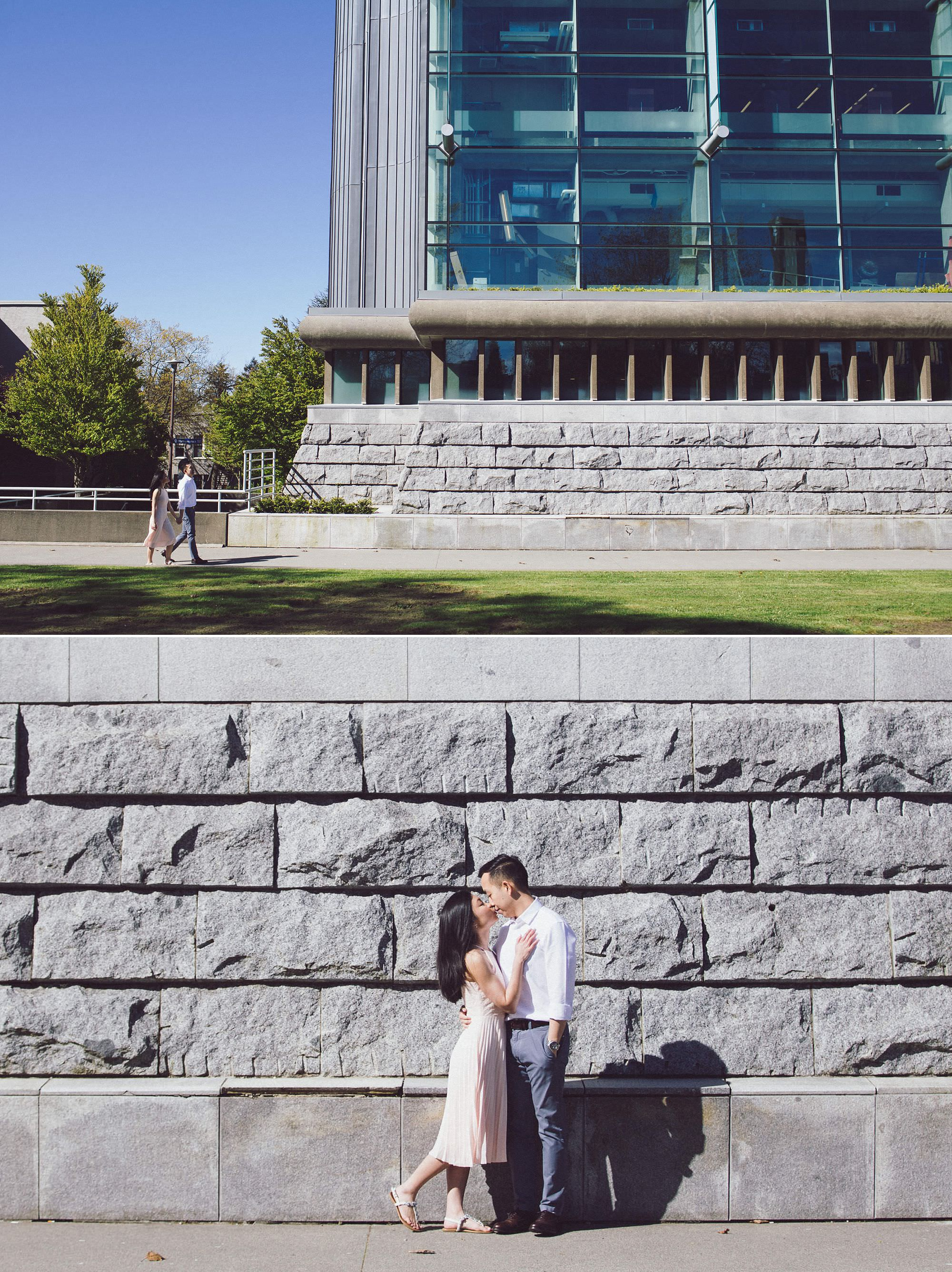 I loved photographing Elizabeth and Chris in front of the Walter C. Koerner Library…magnificent!