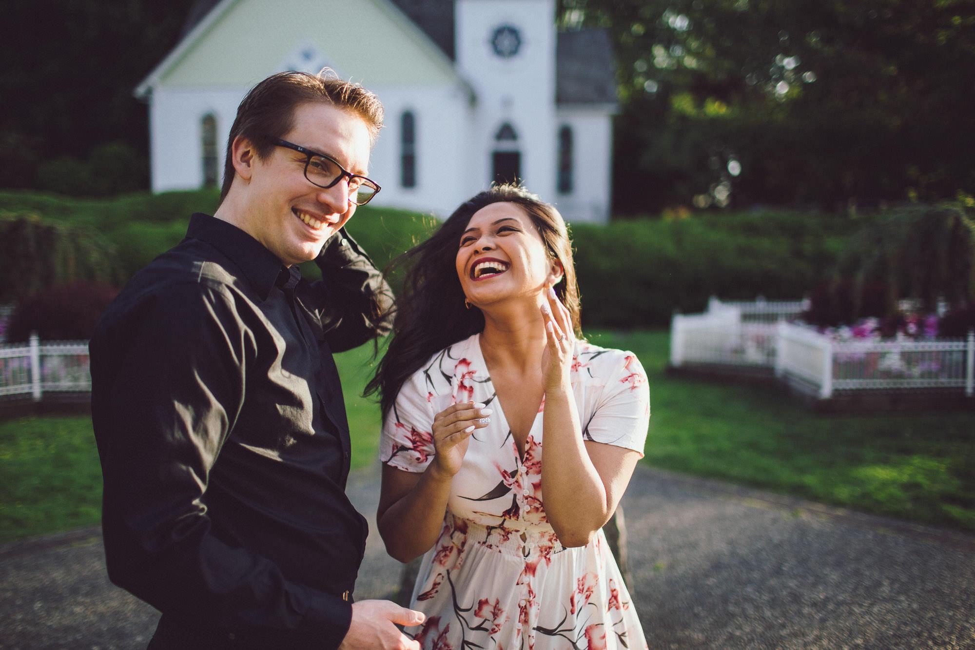 Allie & Doug's Engagement Session - Minoru Chapel & Terra Nova Park