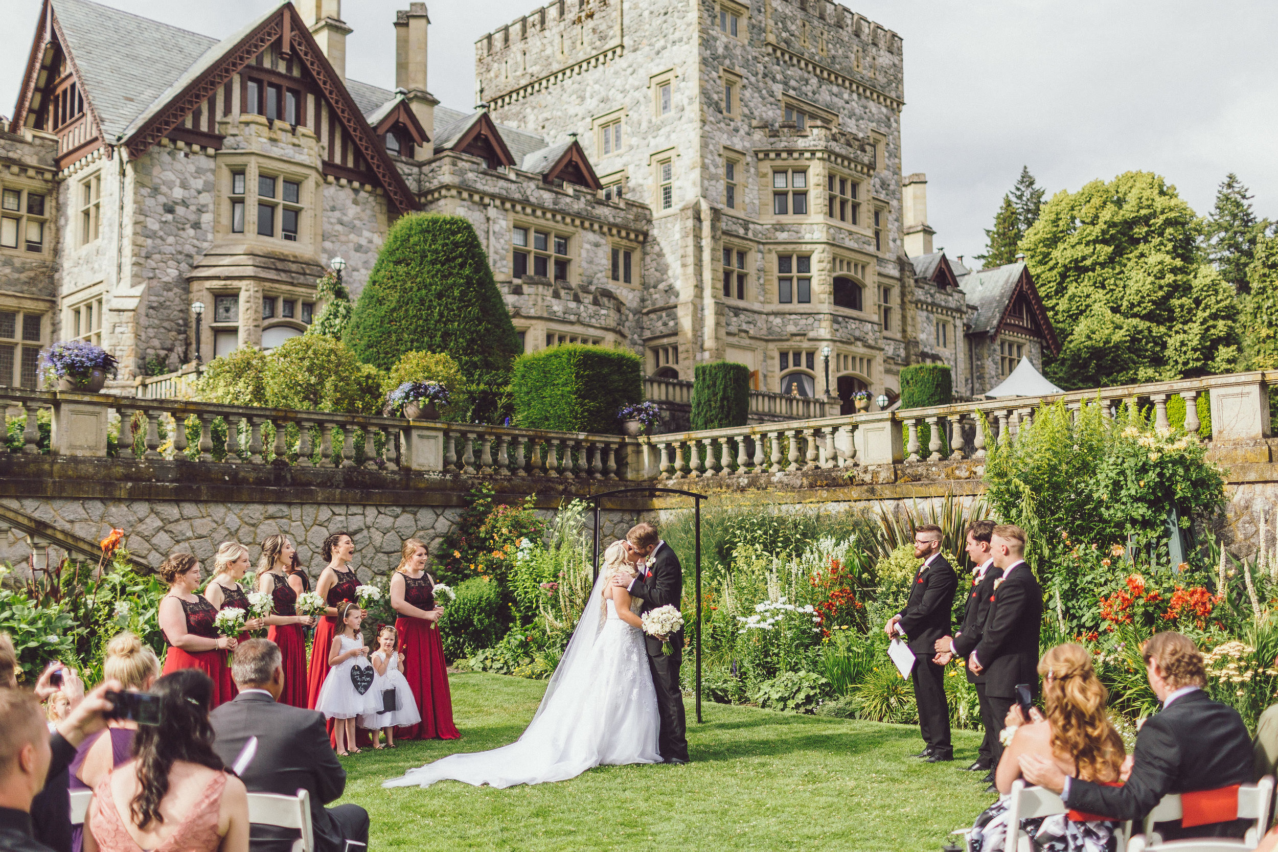Stephanie & Riley's Wedding - At the beautiful Hatley Castle in Victoria, BC
