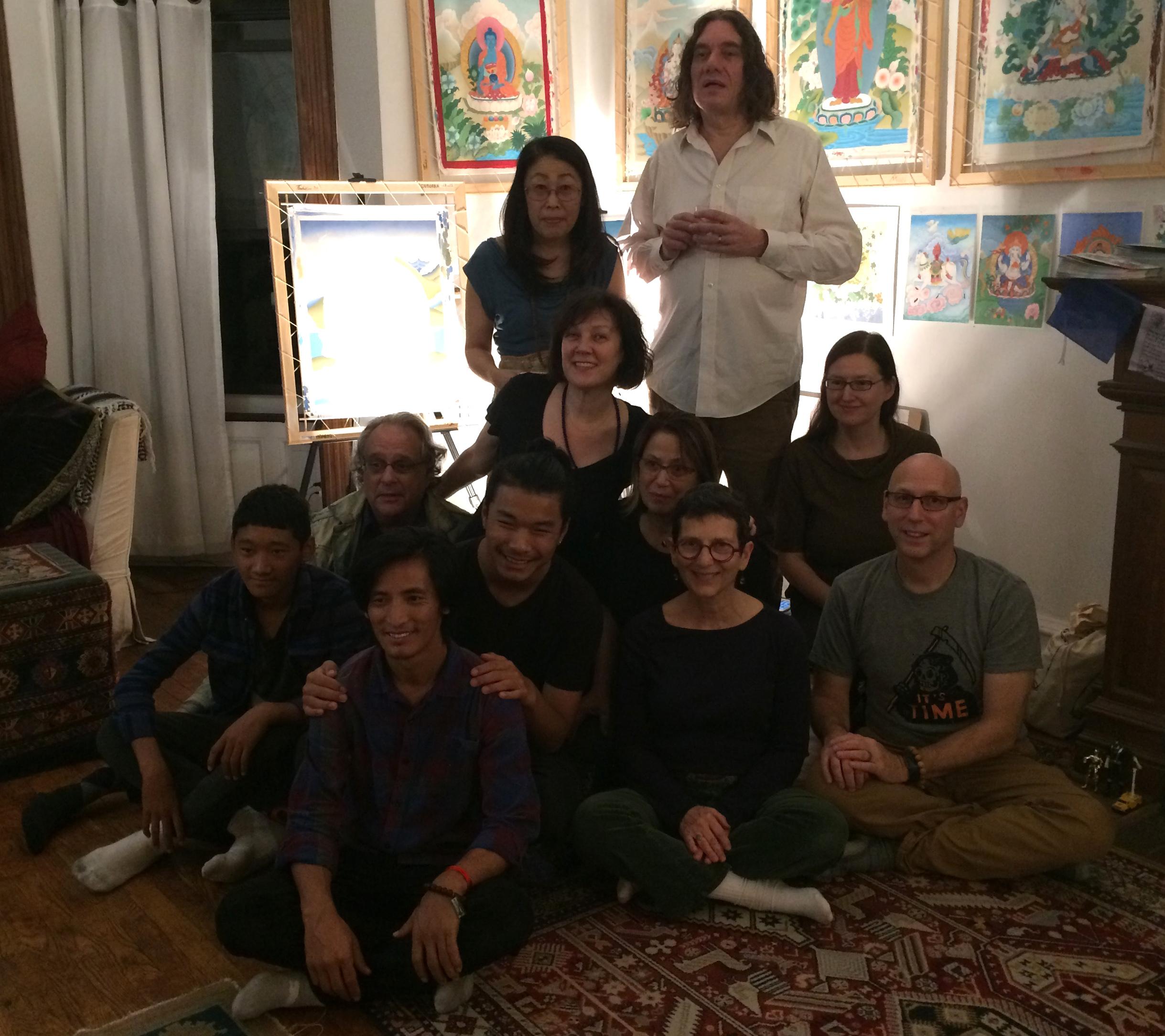 Celebrating three years of Thangka classes with Sonam Rinzin, October 2017