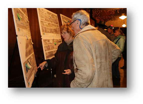 Community members at the second community open house on February 5