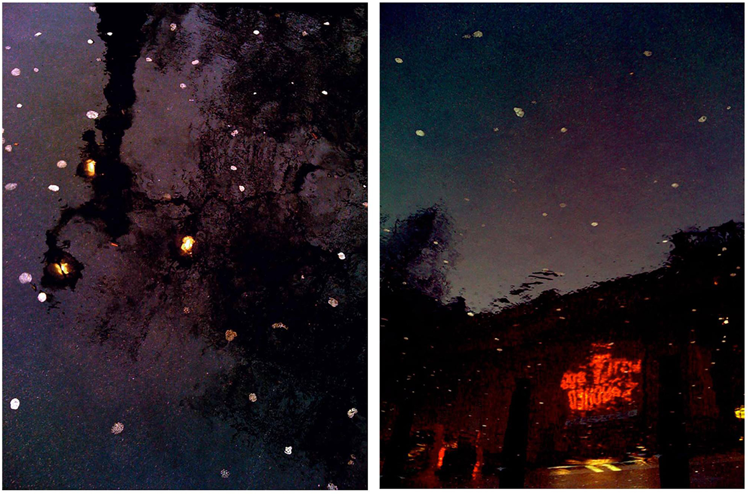 Chewing Gum Constellation  1 and 2 (diptych)