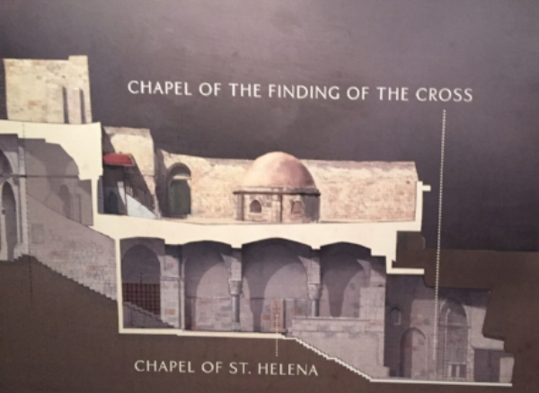 Cross-section of the Church of the Holy Sepulchre featured at The National Geographic Exhibit (Photo: Gress)