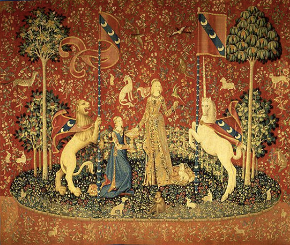 The Lady and the Unicorn Tapestry (Photo: Wikicommons, The Joy of Museums)