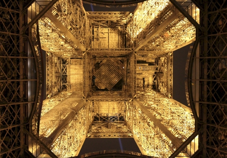 A lit-up Eiffel Tower in the City of Light (J. Gress)