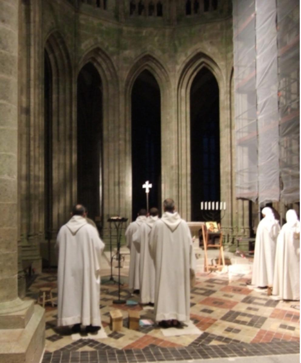 Monks Praying the Morning Office (C. Gress)