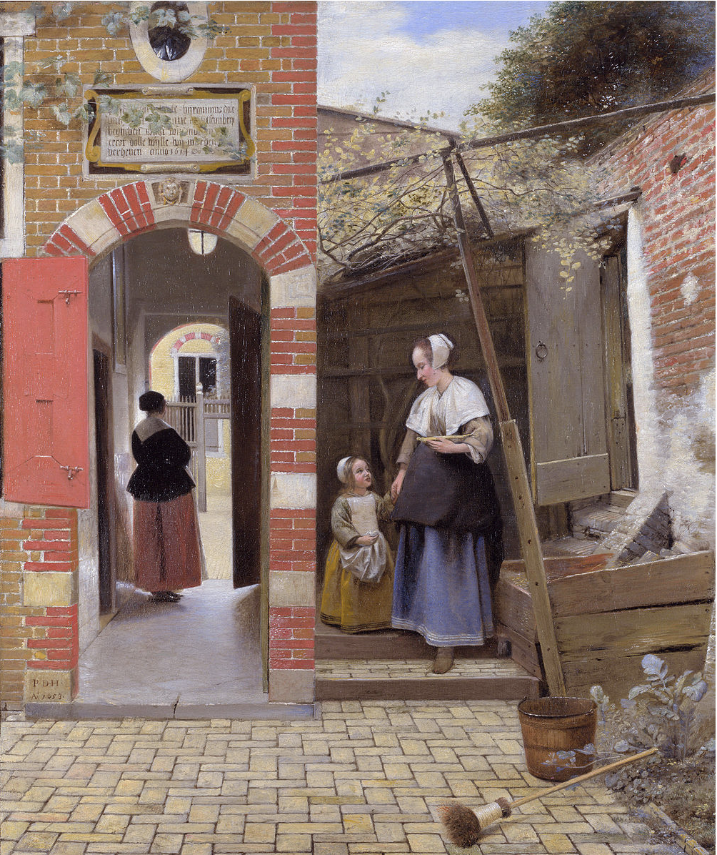 Pieter de Hooch,  The Courtyard of a House in Delft,  1658 (Wikicommons, National Gallery)