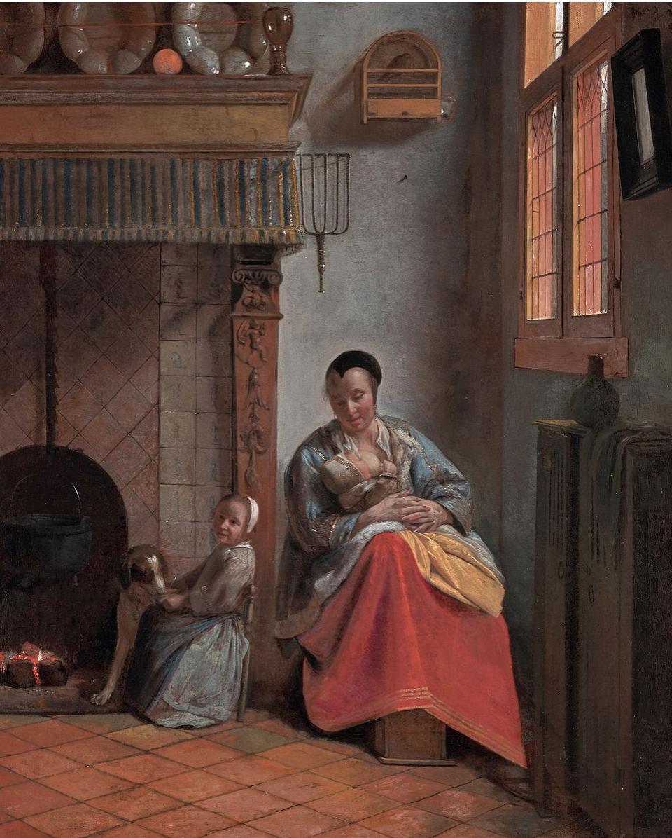 Pietre de Hooch,  Woman Nursing a Child,  1658 (Wikicommons, Fine Arts Museum of San Francisco)
