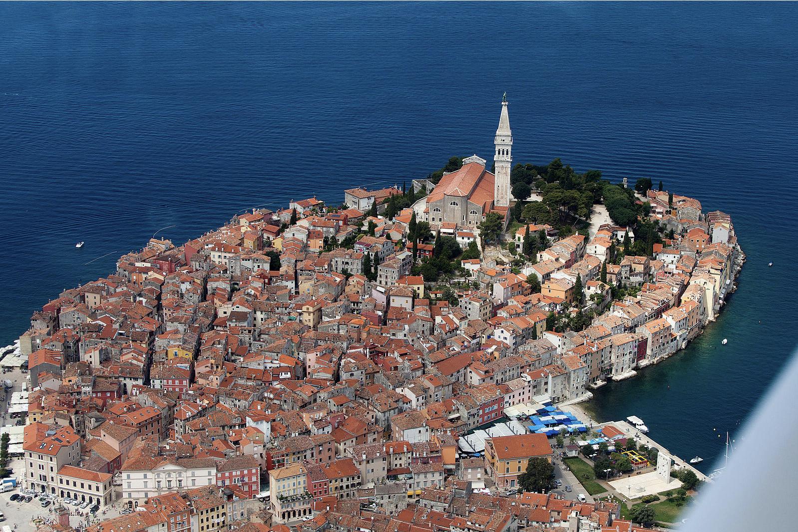 Town of Rovinj, Croatia (Wikicommons,  Jeroen Komen)