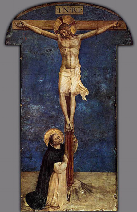St. Dominic Adoring the Crucifixion, Fra Angelico (Wikicommons)