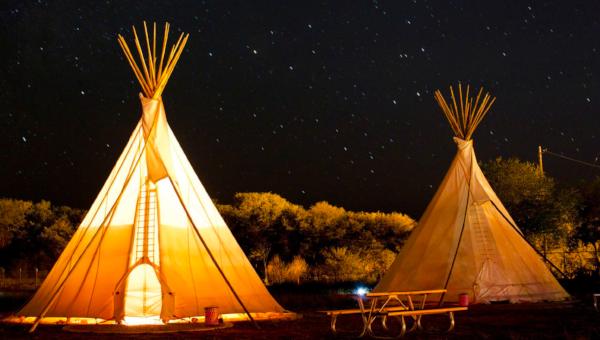 Glamping at El Cosmico in Marfa, Texas (Photo courtesy of El Cosmico via Dwell)