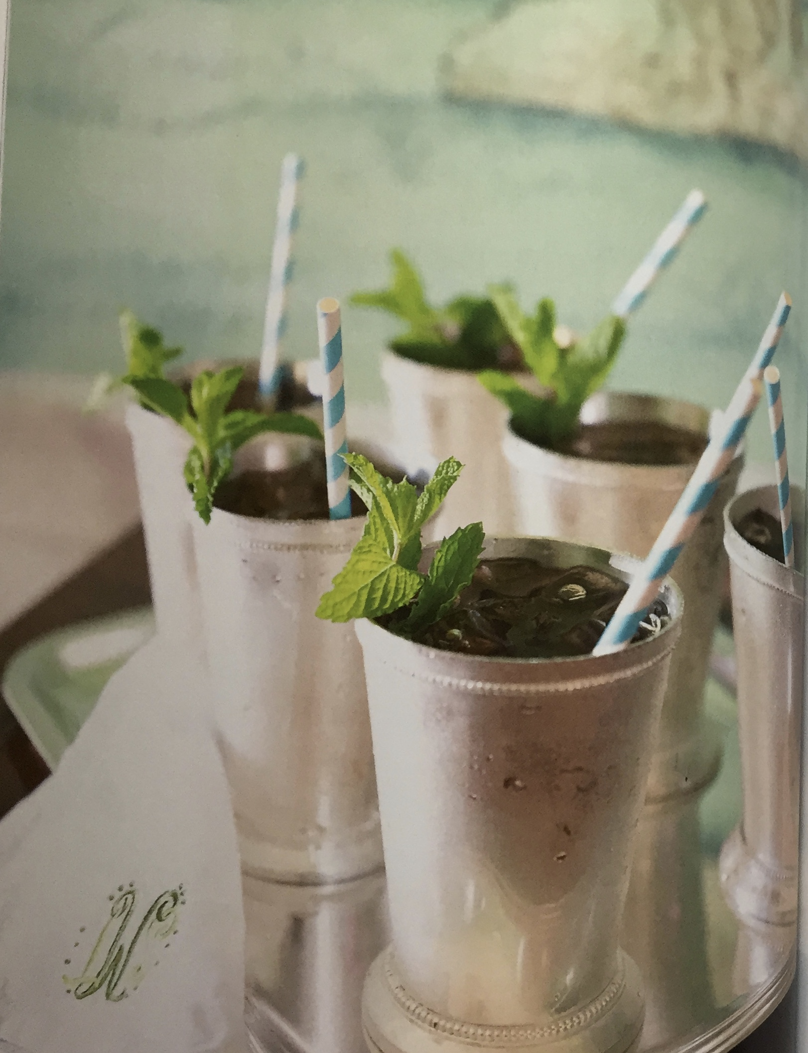 Photo of with the mint julep recipe
